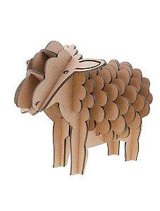 Quebra-Cabeça 3D Porta Lápis Ovelha 18 Peças