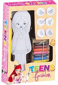 Teens Fashion 9 Bonecas Pintar