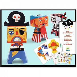 Criações em Papel e Decalque Piratas Djeco