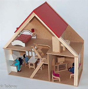 Casa Loft com Móveis em Madeira