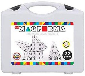 Formas Magnéticas Transparente Maleta com 22 Peças