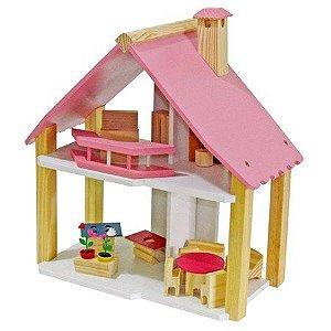 Casinha de Boneca em Madeira Pink