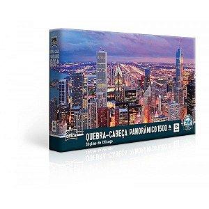 Quebra-Cabeça 1500 Peças Skyline De Chicago