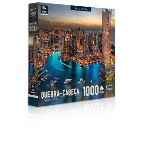 Quebra-Cabeça 1000 Peças Marina De Dubai