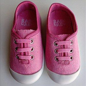 Tênis Infantil Babo Uabu Com Cadarço Elástico Rosa