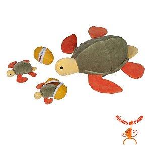 Tartaruga Marina Grávida com 2 Filhotes
