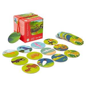Jogo de Memória 24 Peças Bichos do Pantanal