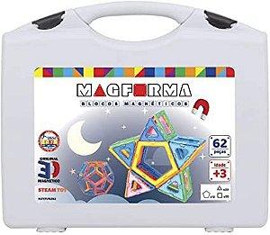 Jogo Magnético Maleta Vazado 62 Peças