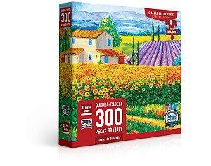 Quebra-cabeça de 300 peças Campo de Girassóis