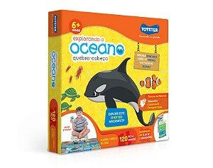 Quebra-cabeça 120 peças Grandão Explorando o Oceano