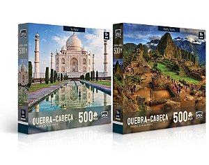 Quebra-Cabeça 500 Peças Maravilhas do Mundo Moderno