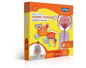 Quebra-Cabeça 120 Peças Explorando O Corpo Humano
