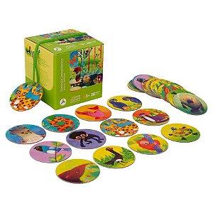 Jogo de Memória 28 Peças Floresta Amazônica