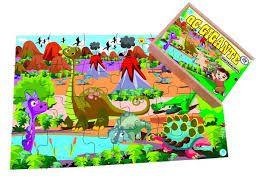 Quebra-Cabeça Gigante Dinossauros 60 Peças