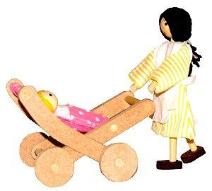 Carrinho de Bebê com Babá