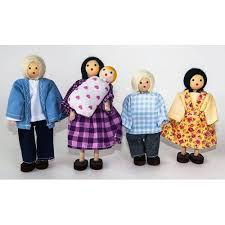 Kit Bonecos Família Branca (5 Bonecos)