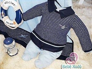 Saída de maternidade de colete