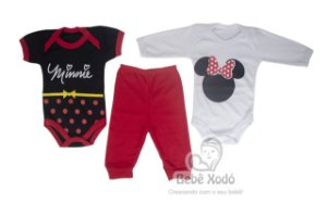 Body kit com 3 peças Minnie