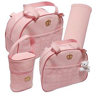 Conjunto de bolsas Barcelona Rosa bebê