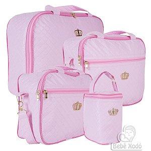 Conjunto de bolsas Madrid Rosa bebê