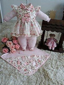 Saida de maternidade Floral