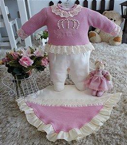 Saida de maternidade Coroa Rose