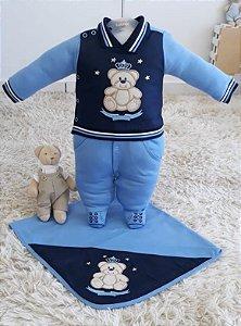 Saida Maternidade Ursinho Rei Azul