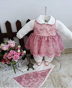 Saída de Maternidade Nina Rosa Seco