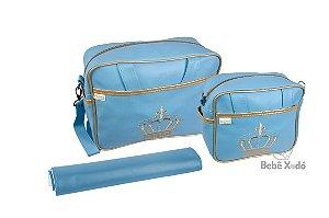 Conjunto de bolsas 3 peças Azul Bebê