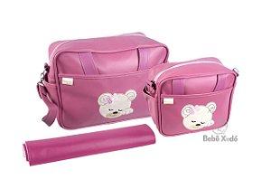 Conjunto de bolsas 3 peças - Rosa Seco
