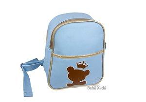Mochila de passeio - Ursinho rei Azul bebê