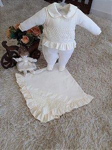 Saída de maternidade Dulce - 3 peças