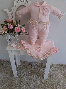 Saida de maternidade 3 peças - Larissa