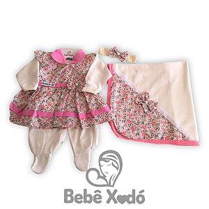 Saída Maternidade - Floral Rosa bebê
