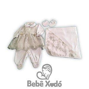 Saida de maternidade 4 peças - Renata