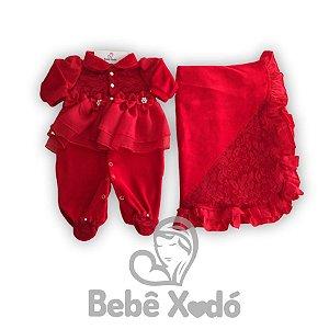 Saida Maternidade Vermelha - Plush