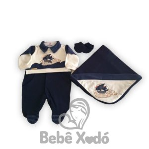 Saida Maternidade Barquinho Azul Marinho - Plush