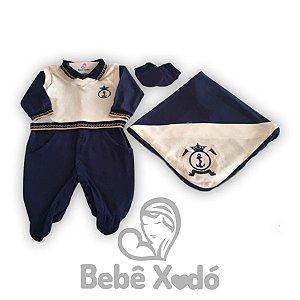Saida Maternidade Âncora Azul Marinho - Plush