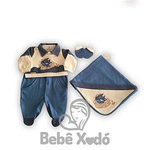 Saida Maternidade Barquinho Azul Bebê - Plush
