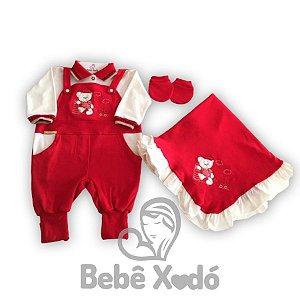 Saida Maternidade Ursinho Vermelho - Plush