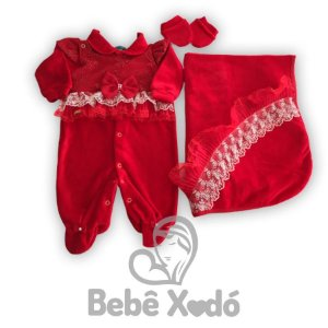Saida Maternidade Vermelha Com Laço - Plush