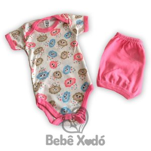 Conjunto Body e Short  - Nuvens Coloridas
