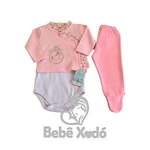 Conjunto Pagão 3 Peças - Tamanho Único Rosa Bebê