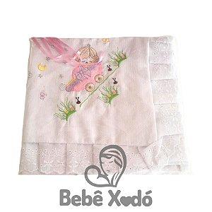 Manta  de Pique - Rosa Bebê