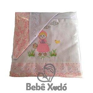 Jogo de Lençol Para Berço 3 Peças - Rosa bebê