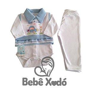 Conjunto Pagão 3 Peças - Tamanho Único Azul Bebê