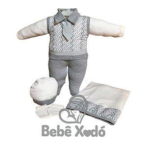 Saída Maternidade -  Chevron Cinza