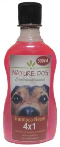 SHAMPOO ANTIPULGAS  PARA CÃES E GATOS NATURE DOG – (4X1) PULGAS, CARRAPATOS, SARNAS E PIOLHOS 500 ML