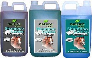 SHAMPOO PARA CAVALOS NATURE DOG  - TODOS OS TIPOS DE PELAGEM, PELOS CLAROS E PELOS ESCUROS - 5 LITROS