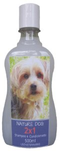 SHAMPOO E CONDICIONADOR 2X1 PARA CÃES E GATOS NATURE DOG -500ML